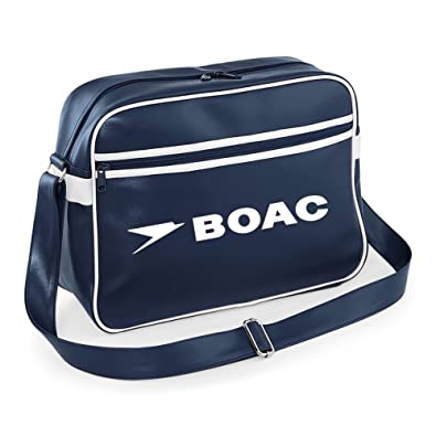ac0252b1b4 Luxury Retro BOAC Flight Shoulder Bag Luggage Pan Am (Navy Blue) Retro Flight  Bag  Amazon.co.uk  Shoes   Bags