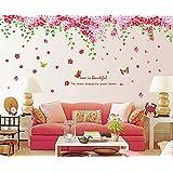 Syga 'Cherry Blossom Flowers Tree' Wall Sticker (PVC Vinyl, 61 cm x 5 cm x 5 cm)