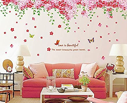 Syga U0027Cherry Blossom Flowers Treeu0027 Wall Sticker (PVC Vinyl, 61 Cm X Part 53