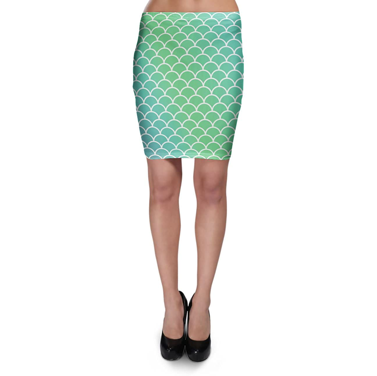 Mermaid Tail Bodycon Skirt XS-3XL Stretch Short Skirt