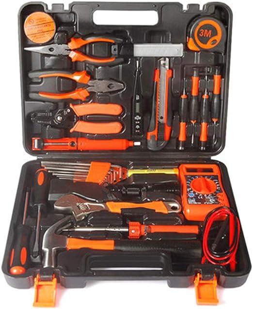 Caja de herramientas de 19 piezas Kit básico de herramientas para el hogar con alicates Destornilladores y llave para proyectos de bricolaje y reparación diaria Perfecto como regalo de inauguración: Amazon.es: Jardín