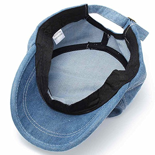 de exterior Jean Sombreros Azul plana Gorras ALWLJ Color Snapback Costura de ajustable béisbol algodón liso de Unisex Hat xUq4q7Z08