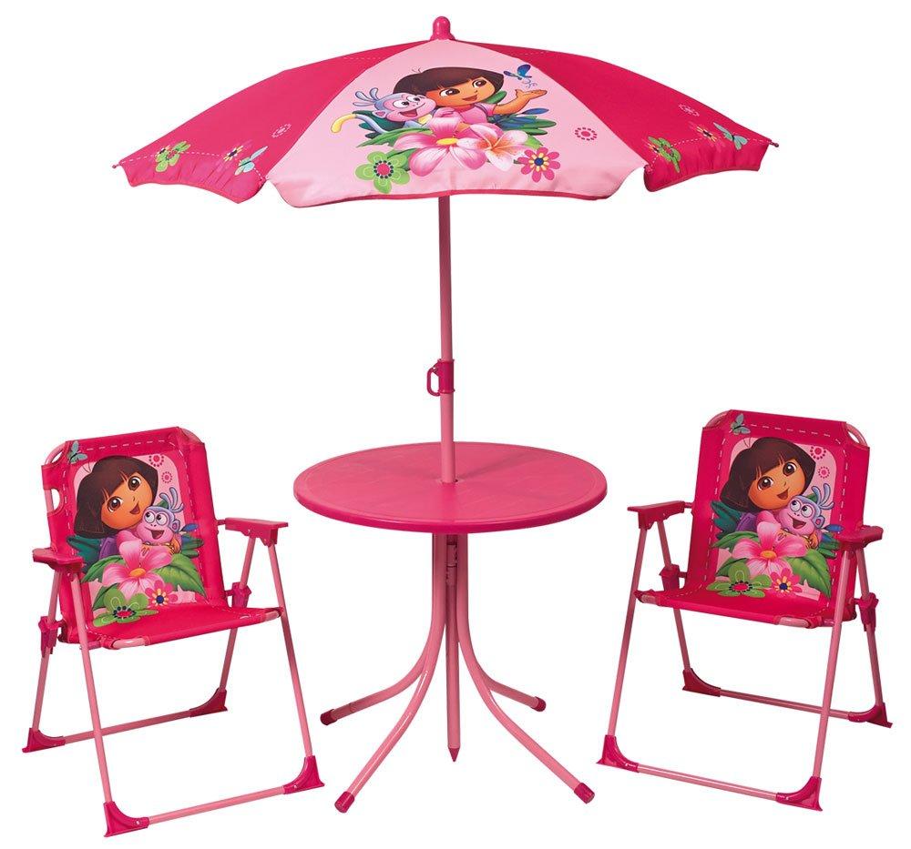 1 Parasol Taille 37 x 25 x 27 1,25 x diam/ètre 100 cm 46 x diam/ètre 46 2 chaises FUN HOUSE Dora Set de Jardin : 1 Table Ronde