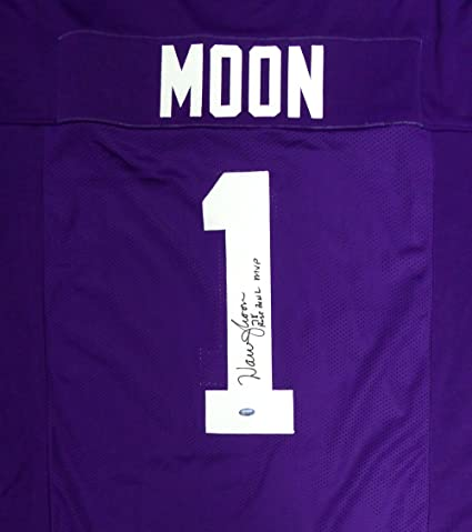 Washington Huskies Warren Moon Autographed Purple Jersey  quot 78 Rose Bowl  MVP quot  ... 35031ef25