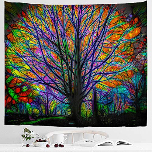 IcosaMro Colorful Tapestries Double Folded Psychedelic