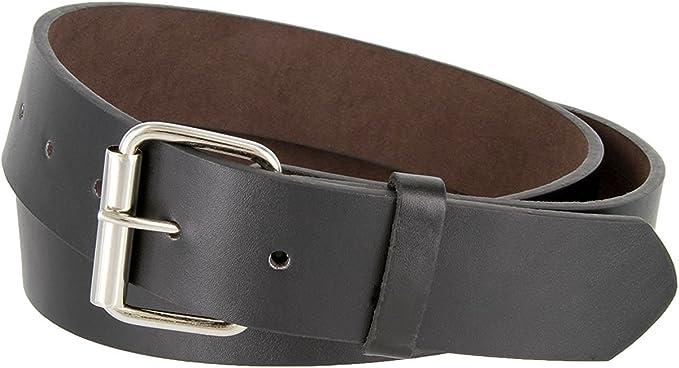 "Hagora Men/'s Plain Solid Color Genuine Suede 1-1//2/"" Wide Snap Buckle Jeans Belt"