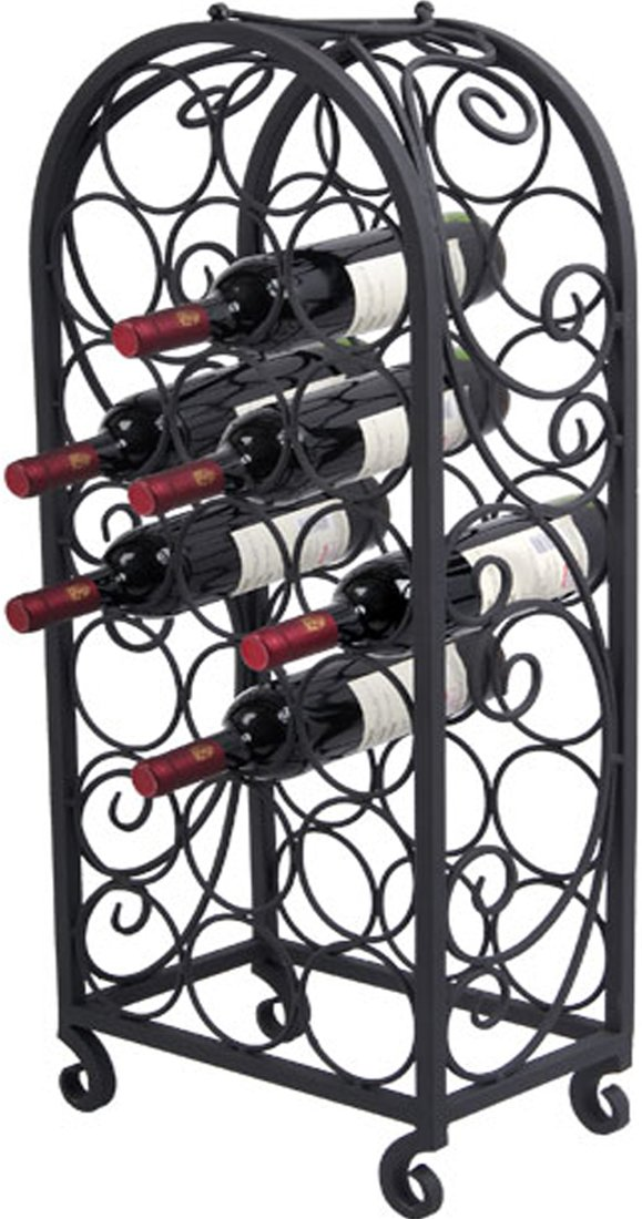 amazoncom pangaea home and garden btw063k 20 bottle iron wine cage with scro wine racks