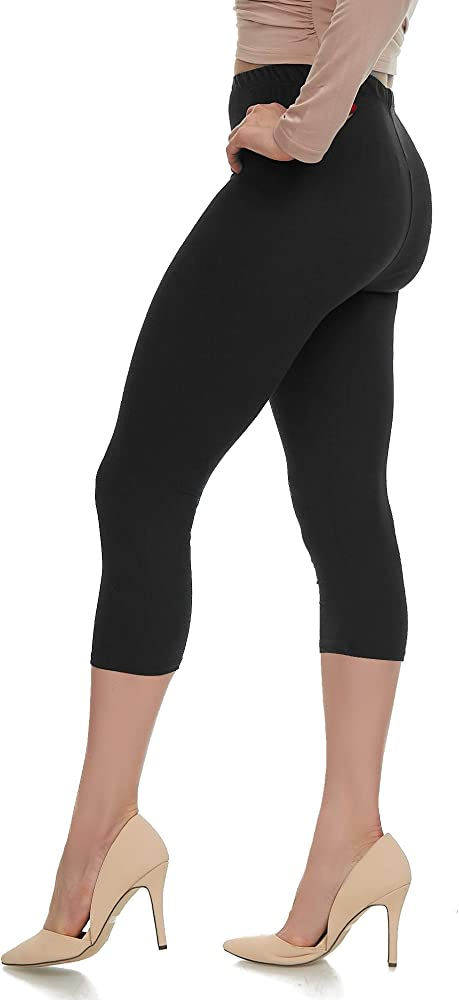 1 Pair Seamless,Stretchy Capri Leggings One Size S//M//L Choose a color