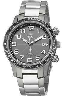 Hombre-reloj ECO Tech time solar Drive radiocámara Aviation II para hombre EGT-11273
