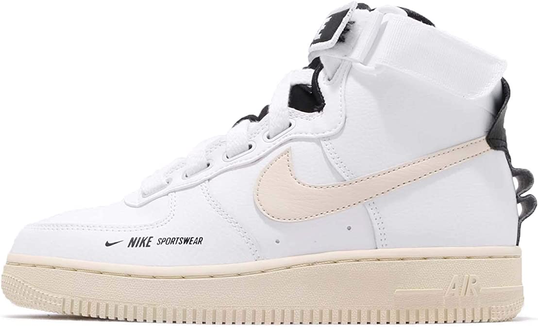 Nike W Af1 Hi Ut whitelight cream black white, Größe:9