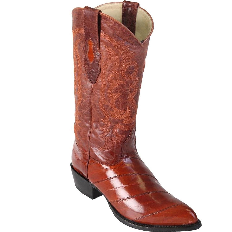 Genuine EEL SKIN COGNAC J-TOE Los Altos Men's Western Cowboy Boot 990803