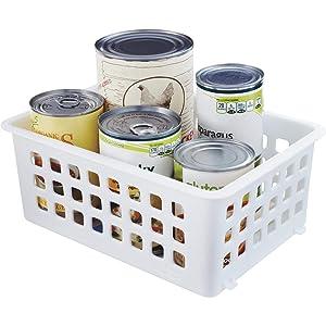 Rubbermaid Home 5581-RD-WHT Slide'N Stack Storage Basket