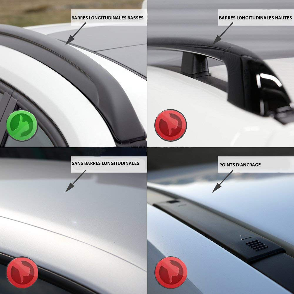 Farad Barres de Toit Compact en Aluminium Noir a/érodynamiques et Super-silencieuses pour BMW X 3 F25 2010-2017 avec Barres longitudinales Basses