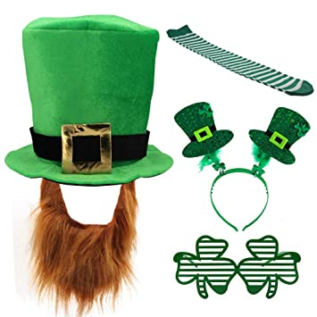 af98261a4 Amazon.com: Kkonetoy 5PCS/Set St. Patricks Day Costume Green ...