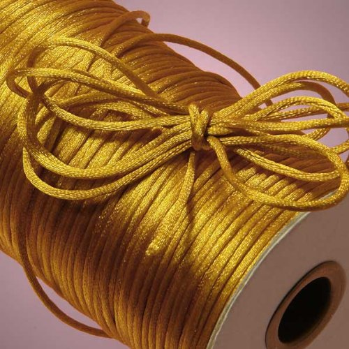 Ben Collection 2mm X 100 Yard Rattail Satin Nylon Trim Cord Chinese Knot (Veil Rat Tail)