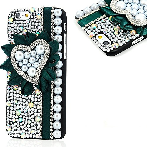 Evtech (TM) per iPhone 6Plus/iPhone 6s Plus 14cm Release on 20143D Handmade Fashion Crystal Rhinestone Bling case cover hard case Clear (100% Handcrafted)