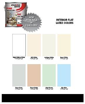 Amazon diamond brite paint 11050 5 gallon flat latex paint high amazon diamond brite paint 11050 5 gallon flat latex paint high hiding white home improvement ccuart Image collections