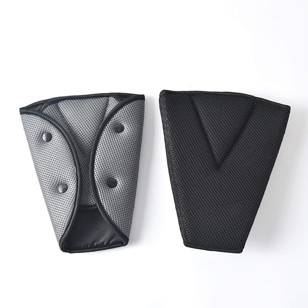 JMAHM Auto Breathable Seat Belt Triangle Retainer Pads Shoulder Cover Soft Seat Belt Pillow Anti Neck for kids Protect Shoulder Black