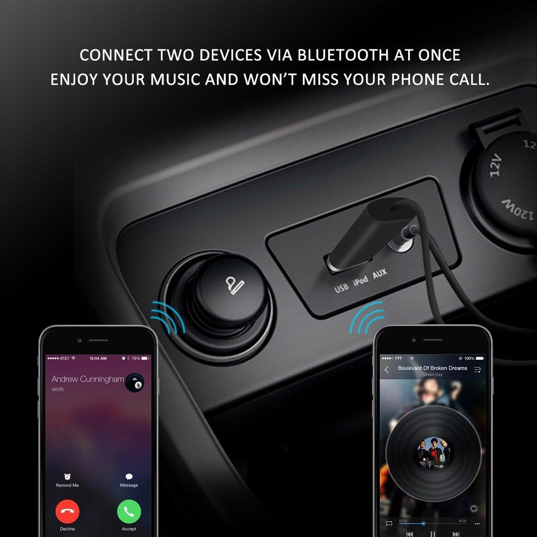 Bluedio BL Receptor Bluetooth, Bluetooth 4.1 Adaptador alámbrico Protable & Bluetooth Car Aux Adaptador para Sistema de Sonido Streaming de Música, ...