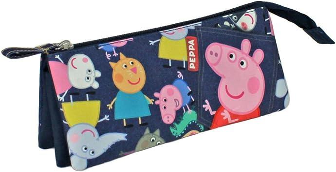 Peppa Pig - Portatodo con 3 Bolsillos, Color Azul (Cerdá 2100000490): Amazon.es: Equipaje