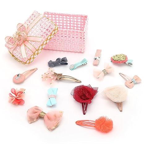 4b84b6a941973 kimmyku bébé Barrettes Pinces à Cheveux Nœuds Accessoires pour fille enfant  nouveau-né de douche