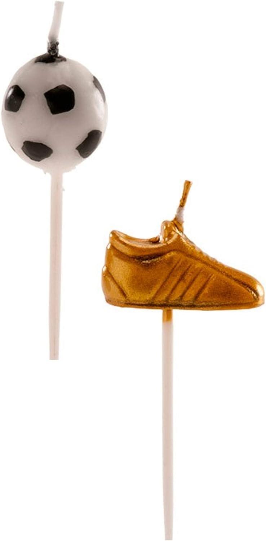 Dekora Pack 6 Velas balón y Bota de fútbol: Amazon.es: Juguetes y ...