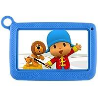 Tablet Android infantil con funda uso rudo para niños, pantalla HD de 7 pulgadas incluyendo almacenamiento interno 8GB, wifi, bluetooth e iwawa preinstalado y control para padres. … (AZUL)