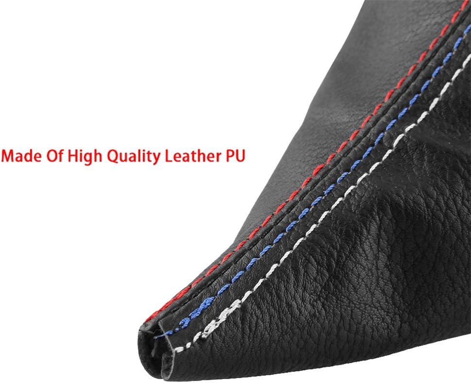 Pursuestar 2 Pcs//Set Manual Car Gear Shift Knob Collar Leather Handbrake Boot Cover Case Gaiter Sleeve for BMW 3 Series 1999-2005 E46 1991-1998 E36 M3