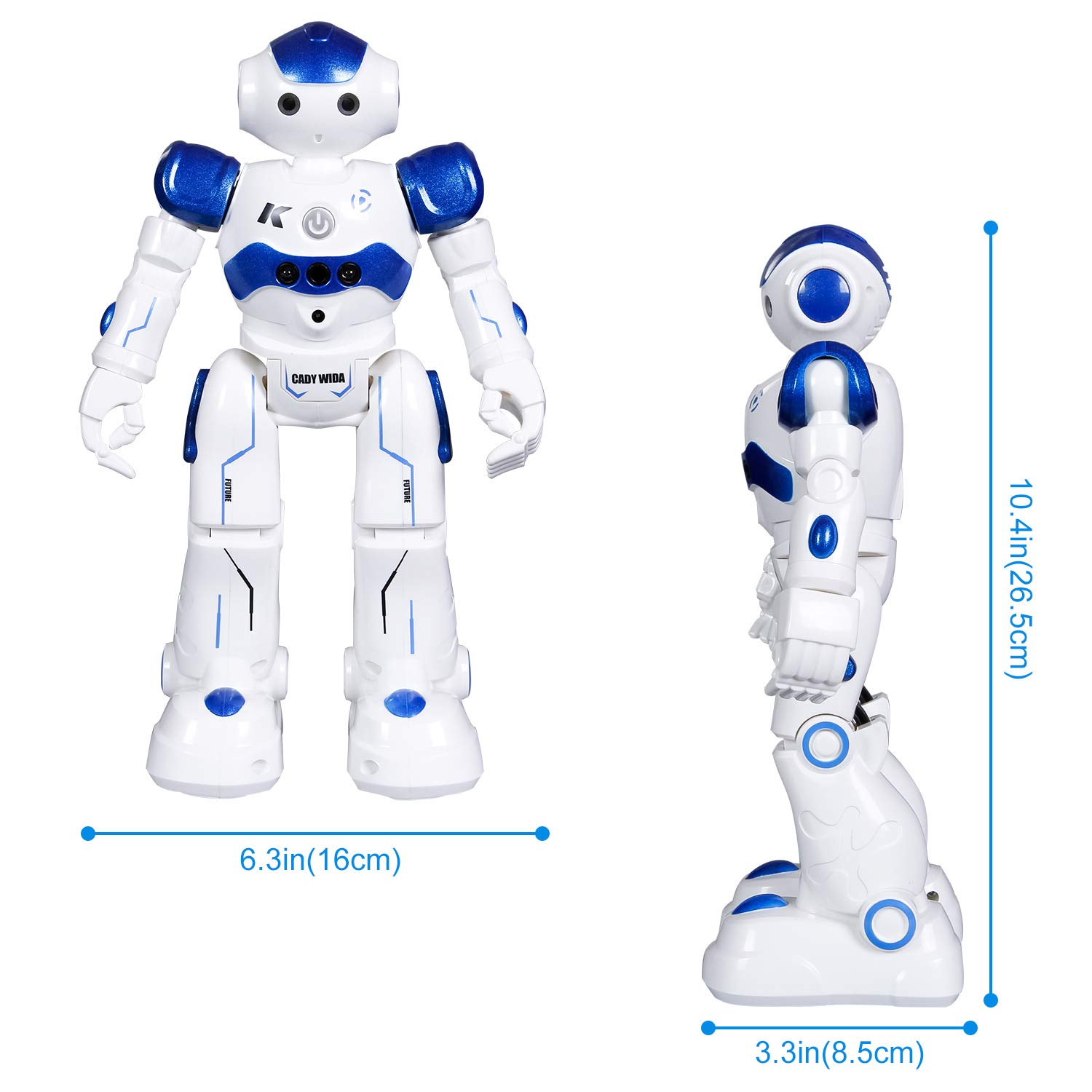 SGILE Remote Control Robot, RC Programmable Educational Robot for Kids Birthday Gift Present, Interactive Walking Singing Dancing Smart Intelligent Robotics for Kids Boy, Blue by SGILE (Image #7)
