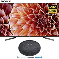 Sony XBR65X900F 65-Inch 4K Ultra HD Smart LED TV (2018 Model) with Google Home Mini (Charcoal)