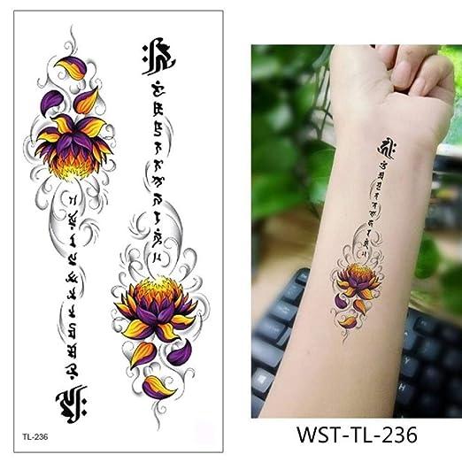 adgkitb 4pcs Tatuaje Pegatina Flores Impermeable WST-TL-236 9x19cm ...