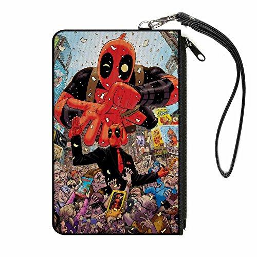 Buckle-Down Buckle-Down Zip Wallet Deadpool Small Accessory, -Deadpool, 6.5
