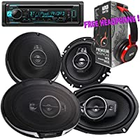 Package - Pair of Kenwood KFC- 6985PS 6x9 600W 4-way + Pair of Kenwood KFC-1695PS 320W 6-1/2 3-way Car Speakers + Kenwood KDC-BT31 Single-DIN Bluetooth CD Receiver + Free EBH700 Headphone