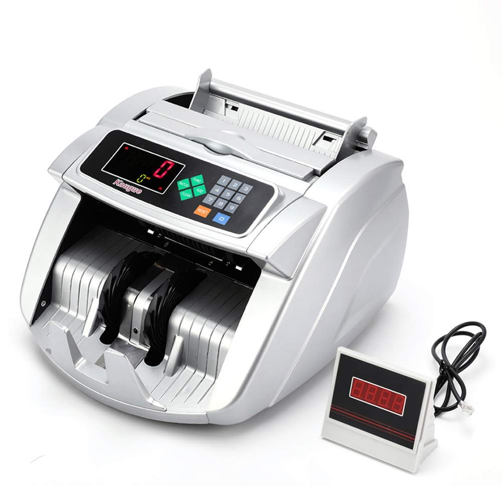 Kaegue Money Counter Bill Counting Machine with UV/MG/IR Detection Business Grade Currency Cash Counter,Counterfeit Bill Detection(Standard) by Kaegue