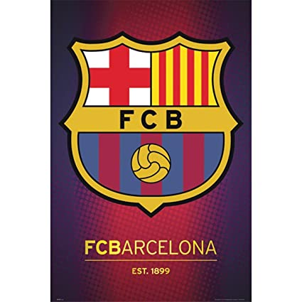 sports shoes 6c87d 15160 Amazon.com  FC Barcelona Club Crest Poster 24 x 36in  Home   Kitchen