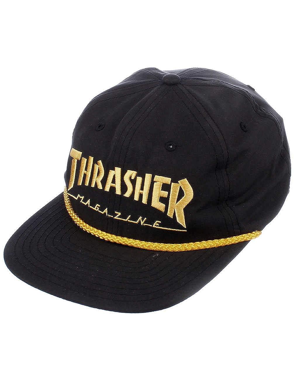 2a1eb391db1 Thrasher Rope Snapback Hat - Black Yellow at Amazon Men s Clothing store