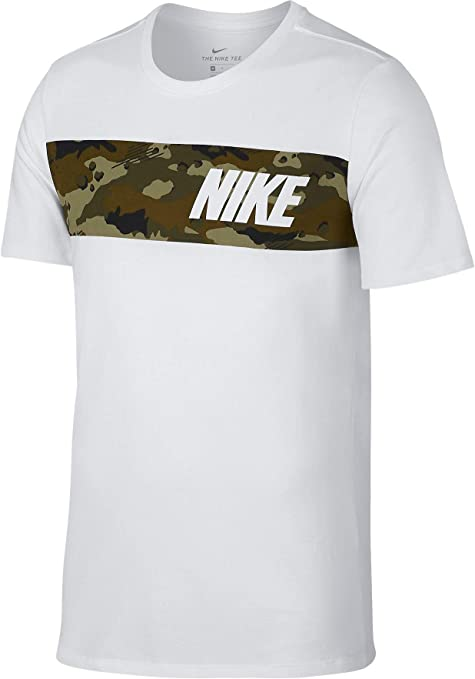 NIKE M NK Dry tee DFC Block Camo - Camiseta, Hombre, Multicolor(White/Neutral Olive): Amazon.es: Deportes y aire libre