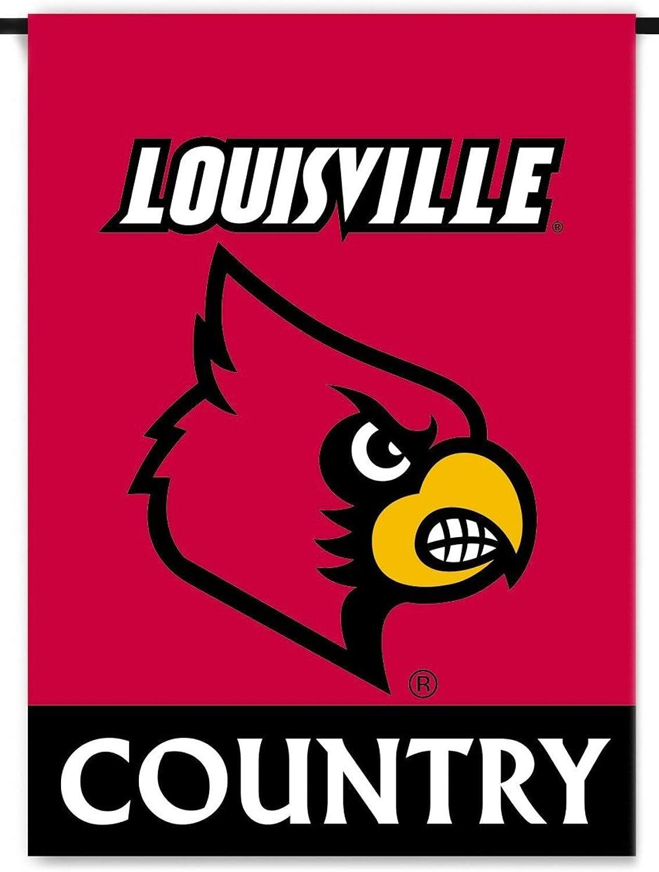 Louisville Cardinals Country Premium 2-Sided Garden Flag Banner University of