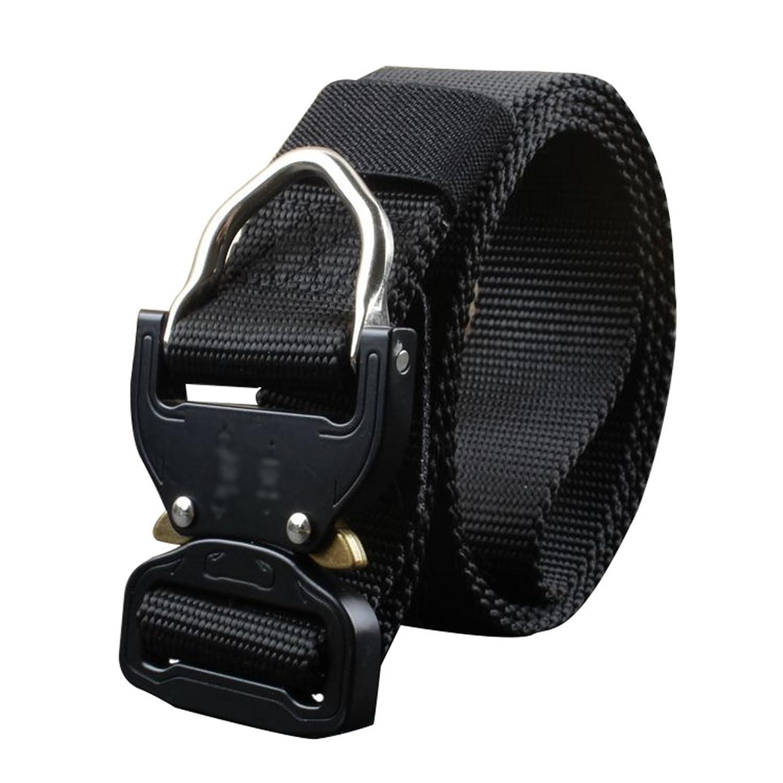 Lihaer Cinturón Militar Profesional Cinturón Elástico Ajustable Para  Hombres Cinturón De Lona ... 9f2cd60f5361