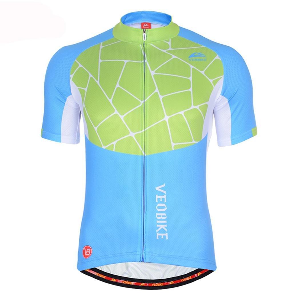 PIO Männer und Frauen mit dem gleichen hochwertigen Sommer-Jersey, Das Original-Garn Ultra-Bequemes atmungsaktives Radfahren-halbes Hülsen-T-Shirt