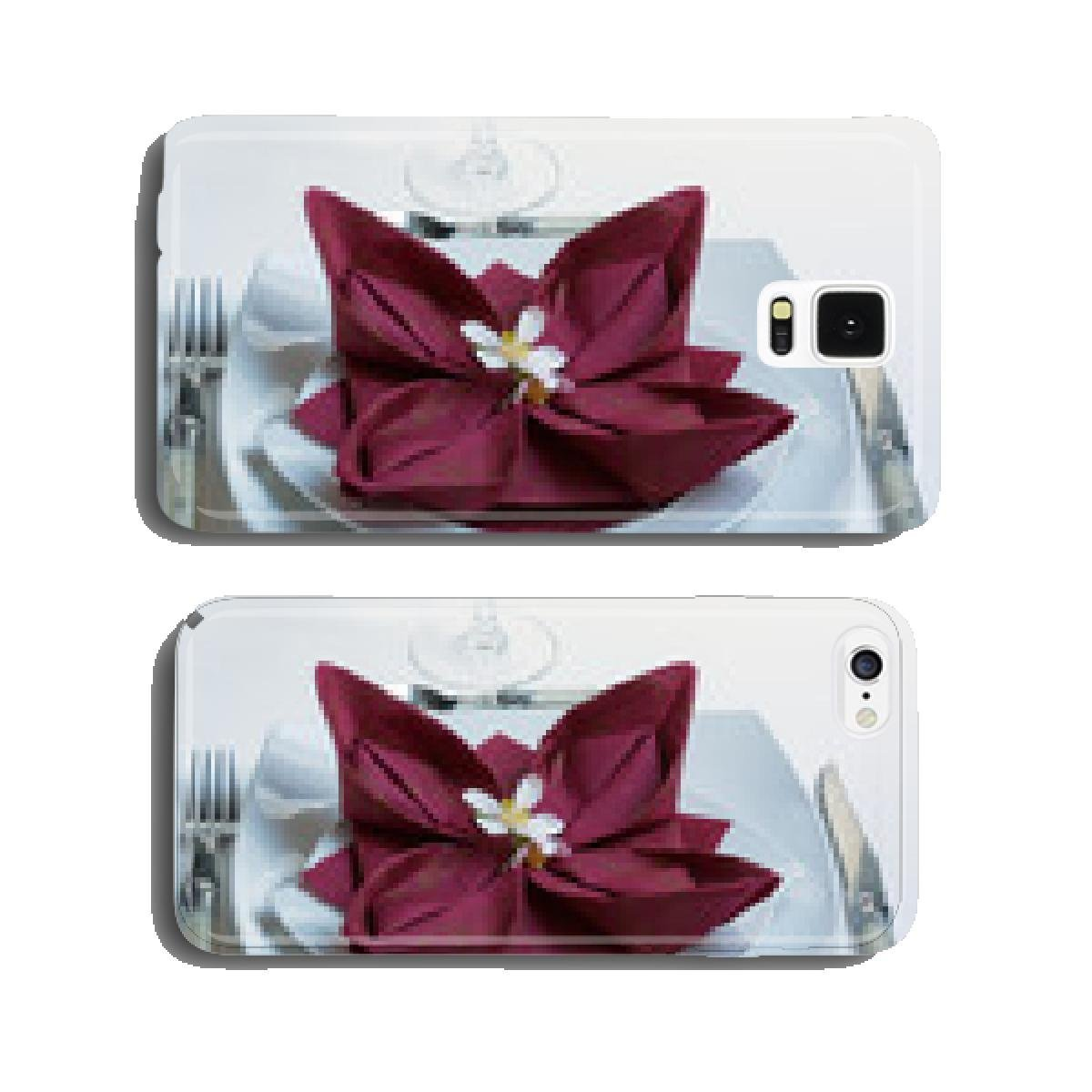 Napkin Folding Lotus Flower On Plate Cell Phone Cover Amazon