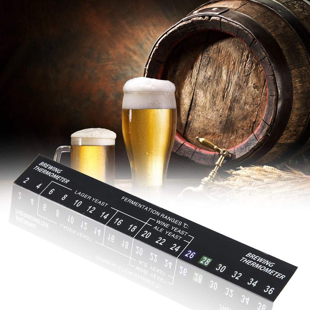 5 Pack Stick on Thermometer for Home Brew 2C TO 36C Beer Spirits Wine Temperature