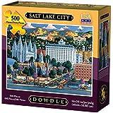Dowdle Folk Art Salt Lake City Jigsaw Puzzle (500 Piece)