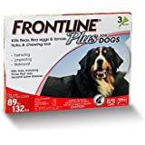 Frontline Plus Flea and Tick Control for Dogs  89-132 Lbs - 3 MO SUPPLY