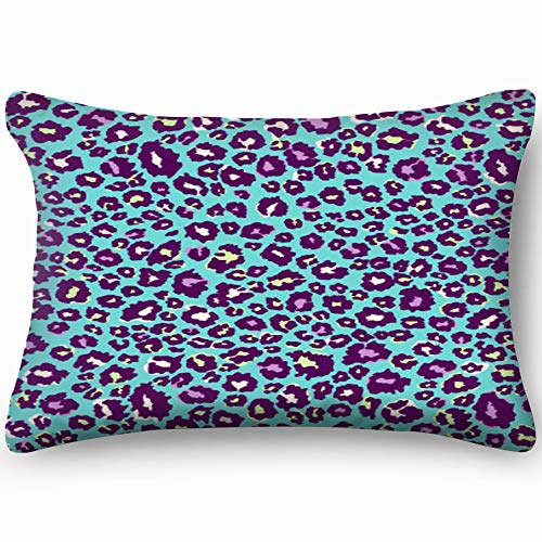 Colorful Leopard Animals Wildlife Animals Wildlife Miscellaneous Miscellaneous Home Decor Wedding Gift Engagement Present Housewarming Gift Cushion Cover 20x30 inch