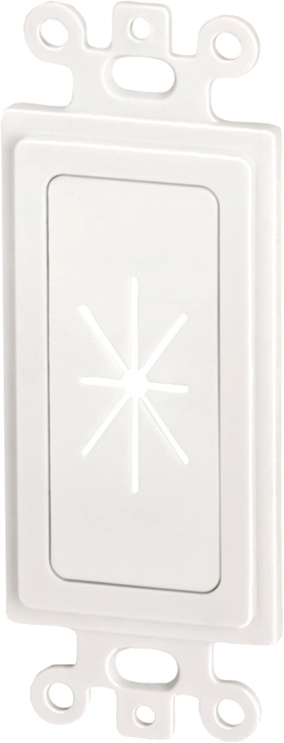 DCM450016WH - DATACOMM Electronics 45-0016-WH Decor Insert with Flexible Opening (White)