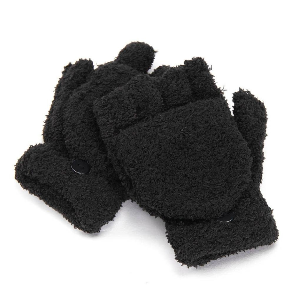 Yoyorule Girls Ladies Hand Wrist Warmer Winter Fingerless Gloves Mitten
