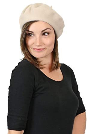 Parkhurst Wool Beret for Women Slouchy Hat Cap Beanie Basque Artist Winter  Ladies (Birch) 40a8662145eb