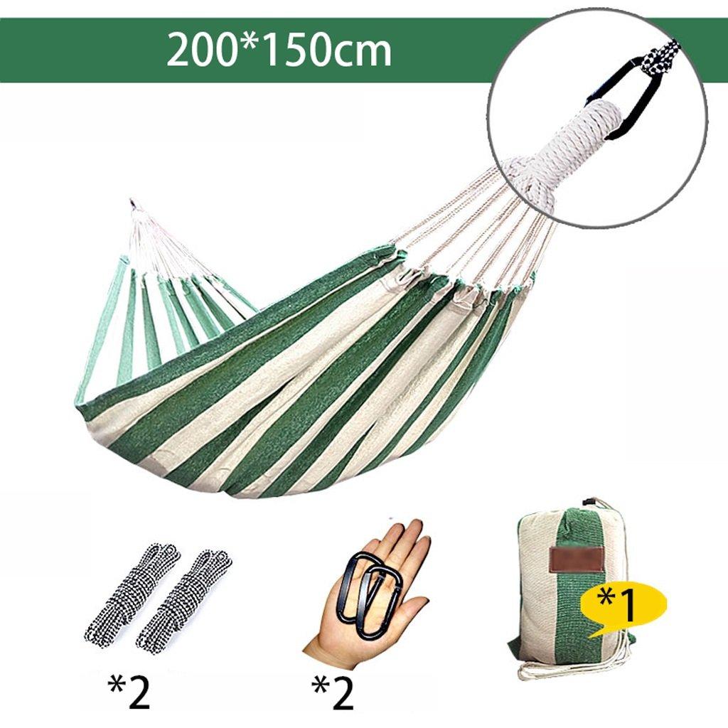 Hängematten Wddwarmhome Im Freien kampierender Segeltuch Schlafsaal-Raum-zufälliges Schwingen-Antirollen leicht zu tragen (größe : Double (200150cm))