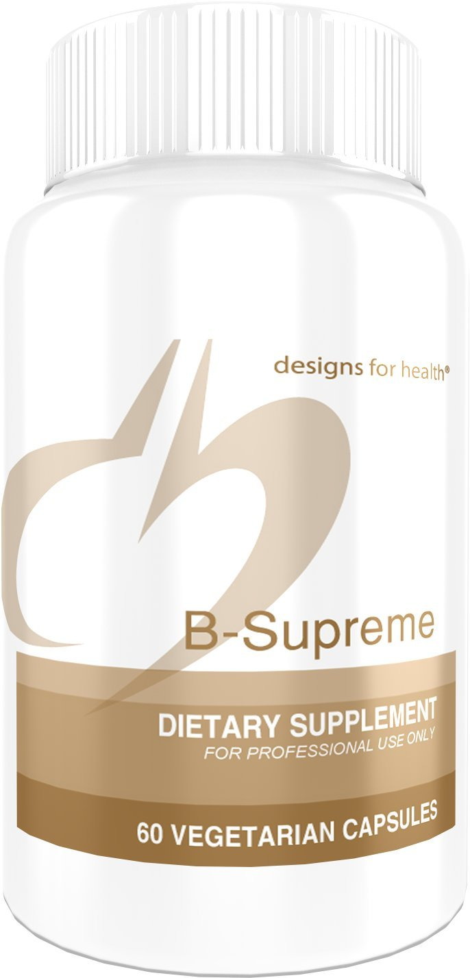 Designs for Health - B-Supreme - 60 Capsules, B Complex with Active Folate & B12